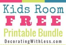 {Free Printable Artwork} / Free printable artwork is a great way to save money on your home decor.