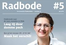 Radbode / Radbode is het personeelsblad van het Radboudumc. Het magazine verschijnt 10 keer per jaar en telt 24 pagina's. Radbode biedt achtergronden en ontwikkelingen bij het Radboudumc, brengt relevante informatie en meningen, gaat discussies niet uit de weg en biedt persoonlijke verhalen. Over zowel patiëntenzorg, onderwijs & opleiding, onderzoek en ondersteunende diensten. Radbode heeft een oplage van circa 11.000 exemplaren.