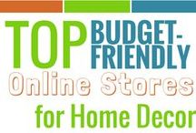 {Money Saving Decorating Tips} / Advice and Tips to Save Money when decorating your home on a budget.
