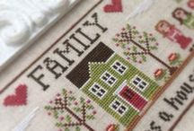 Sampler Folk Cottage ❤ / Welcome to my sweet cross stitch cottage, filled with lovely Americana collectibles, cross stitch linens, & quaint, folk art decor. It's a picture of a simple life with a reminiscent of a peaceful Amish life.