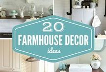 {Farmhouse Decorating Inspiration} / Everything about decorating a home in a farmhouse style