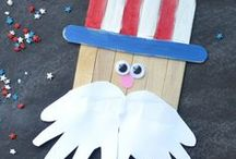 Memorial Day Crafts for Kids / Make your own Memorial day decorations with these craft, food, and activity ideas for toddlers, preschoolers, and kids of all ages. #MemorialDay #DIY #Crafts #MemorialDayCrafts