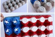 4th of July Crafts for Kids / Ready for fireworks, games, and crafts? Get ready for the 4th of July with these easy craft ideas perfect for preschoolers and older kids. #Crafts #HolidayCrafts #4thOfJuly