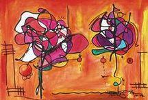 ART. Orange paintings. / Paintings. regiaart@gmail.com