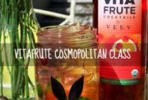 Cosmopolitan Class / Made with organic VEEV Spirit with all-natural cranberry juice and a hint of citrus. Under 125 calories per serving and 15% ALC/VOL (30 Proof). / by VitaFrute Cocktails by VEEV