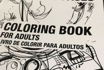ART. Coloring book. / Coloring book for adults. Faces artworks by R. Marinho.