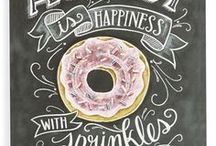 Chalk Art / Beautiful Chalk Art and Chalk Lettering Inspiration. Holiday and seasonal prints as well as motivational empowering quotes.