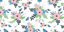 Patterns - Fabrics / Beautiful pattern designs on Fabric, Fabric collections, surface patterns, pattern designs, floral, repeating patterns, seamless patterns