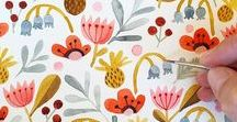 Patterns - Watercolor & Graphic / Lovely watercolor, geometric, iconic, cute and floral patterns. My collection of patterns for creative inspiration and ideas