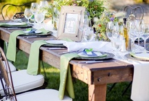 Outdoor Wedding Tablescapes / by Yehudit Steinberg M.Ed.