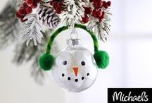 Ornaments DIY / Make it Merry with DIY Christmas ornaments. Hang on your tree, adorn packages or give as keepsake gifts / by Michaels Stores