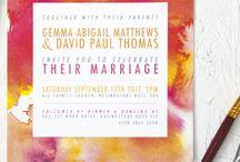 INVITATIONS / Wedding invitations, party invitations, stationery design, stationery suites.