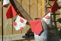 """LA POPPY BUNTING / Handmade Bunting for any occasion.  Please """"like & share"""" my Facebook page.  La Poppy Bunting."""