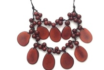 Tagua Necklaces / We offer an array of handcrafted tagua jewelry. Each piece of the jewelry is truly unique. They are all made of tagua nut or natural ivory, which is a dried seed that come from the tagua palm tree.