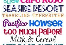 Fonts & Clip Art