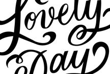 C A L L I G R A P H Y / Hand lettering and calligraphy art, typography inspiration