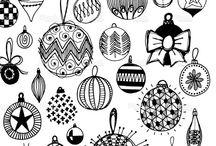 C H R I S T M A S / Seasonal, festive styling, art and illustration