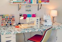 SEWING STATION / Home sewing studio ideas