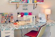 S E W I N G S T A T I O N / Home sewing studio ideas