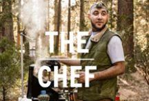 The Chef / No beans and dogs in camp this weekend. To the Chef, it's go gourmet or go home. Breakfast, lunch and dinner, a feast is in the making. / by REI