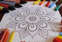 Designer Coloring Pages / beautiful designer coloring pages for kids or for mom / by Sharing Visually