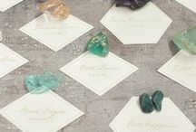 Seating Charts, Place Cards and Signage. / Wedding #seatingcharts and #placecards.