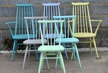 Hand Painted / Painted vintage items and painting objects