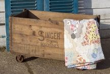 Vintage crates / Up-cycled, Rustic Wood Crates and Containers