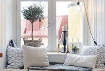 Window Nooks / Rincones bajo la ventana / by Rocio Jimenez | Casa Haus