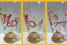 Designs by Beth / Hand painted glasses, frames and canvases / by Beth Frazer