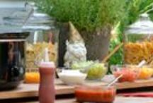 Entertaining / Great ideas for entertaining a small group, large group, weddings, family dinners, girl get togethers.picnic, BBQ, casual meal, baby shower, reunion, Cinco de Mayo party, New Year's Eve party, birthday party, any gathering