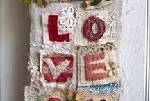 Fabric Art / Art projects using fabric and vintage lace, millinery, and whatever else you might add. All things fabric.