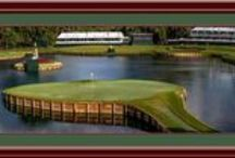 Golf / Framed golf art including golf course prints, famous golf holes and famous golfers
