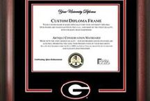 Diploma Frames / Wondering how to display your diploma after your big day?