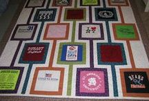 Tshirt Quilts / All Tshirt and baby memory quilts and what to do with the left over materials from making a Tshirt quilt!  / by Michelle @ latenightquilter.com