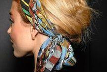 Fazendo a cabeça / Hair scarf hat