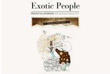 Exotic People  / Illustration project inspired on my surroundings people.