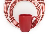 Pattern Inspiration - Red / Nothing stands out like a pop of red, so we love this statement color for our dinnerware.