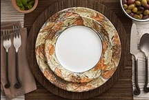 Pattern Inspiration - Woodland Leaves / Inspiration four our Woodland Leaves dinnerware pattern.