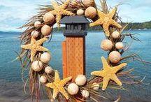 Just Beachy / Beach Decor, wreaths, ornaments, seaglass, shell design  http://www.etsy.com/shop/justbeachynow
