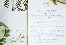 Wedding: Paper & Print / Invitations, save the dates, menus, etc. that tickle my printed paper fancy. / by Beylah Redke