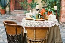 OUTDOOR DINING / Places for eating in the garden