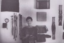 Weaving / Hand woven, wall hangings, tapestry, off the loom, weavers I admire, jacquard. / by Nicola Wong