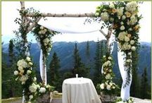 AB Rentals: Ceremonies / Rentals can be customized to taste. We build custom pieces as well!! www.aspenbranch.com -  970-925-3791