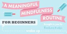 Mindfulness / Mindfulness - techniques to help you to acknowledge thoughts without judgement to help build a calmer and more positive outlook.