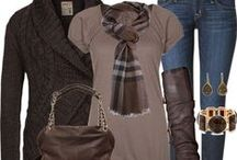 Dress with Style -  Fall &  Winter / My closet is full of classic neutrals.  Navy, browns, creams, blacks and grays!