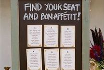 Seating plans / Wedding tableaux and seating cards