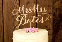 Cake toppers / Inspirations for classic, original, cute wedding cake toppers