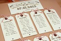 Wedding Seating Chart Ideas / Lots of great ideas and designs for your wedding seating chart or table seating plan.
