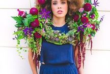 Floral fashion / Jewelry and accessories made with real flowers.